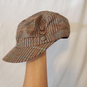 Cute Vintage Plad Hat